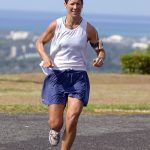 female athlete running thriathletes